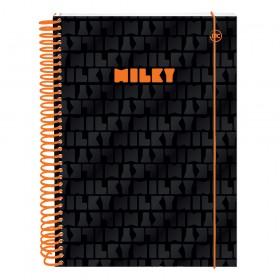 Caderno 10 matérias DAC Milky Preto - 3036PR