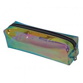 Estojo escolar DAC em PVC Cristal holográfico Shine Fruta Cor