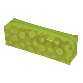 Estojo escolar DAC em PVC Cristal Translúcido Color Circle Verde