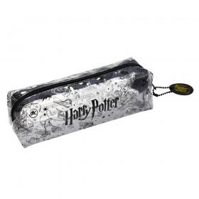 Estojo Escolar Harry Potter em PVC Cristal Transparente - 3233