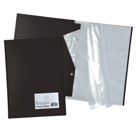 Pasta Catálogo 1/2 Ofício DAC Preta com 30 Envelopes Finos