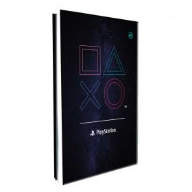 Pasta Catálogo Ofício Lombo Ajustável PlayStation com 10 Envelopes Médios