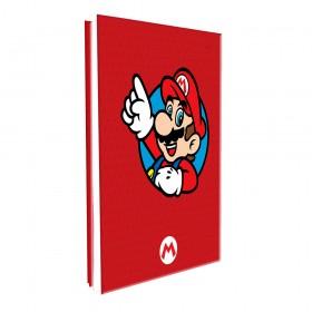 Pasta Catálogo Ofício Lombo Ajustável Super Mario com 10 Envelopes Médios
