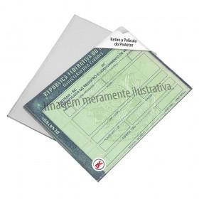 Protetor Rígido para Documento de Carro DUT e Certidão de Nascimento Reduzida
